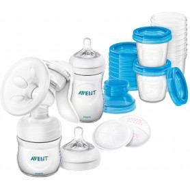 Juego de lactancia con extractor de leche manual SCD221/00 - Philips Avent