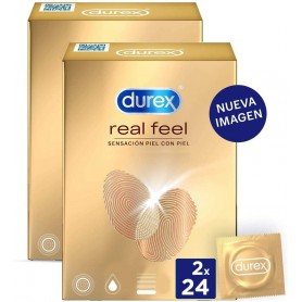 Pack Preservativos Real Feel 48 unidades Sensitivos Sin Látex - Durex