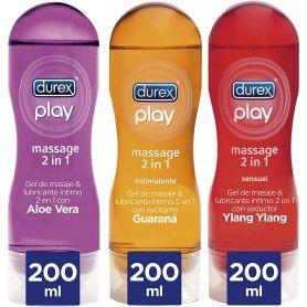 Pack Lubricantes Massage Aloe Vera + Estimulante + Sensual - Durex