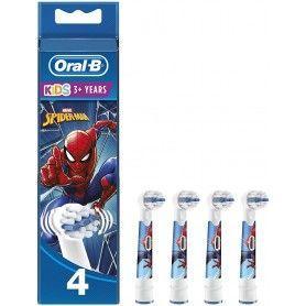 4 Cabezales de repuesto con personajes de Spider-Man - Oral-B