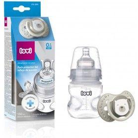 LOVI Pack protector del reflejo de succión, biberón 150ml y chupete dinámico 0-3m