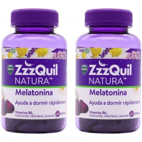 Pack 2x60 Zzzquil Natura Melatonina, total 120 Gominolas