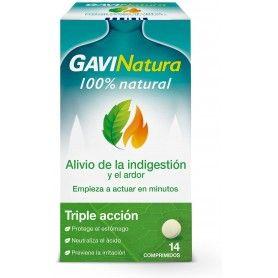 GaviNatura - Alivio de la indigestión y el ardor, triple acción, con ingredientes de origen 100% natural - 14 comprimidos