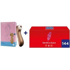 Durex Preservativos Sensitivo Suave 144 condones + Vibrador Satisfyer Pro 2 Next Generation